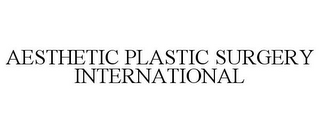 mark for AESTHETIC PLASTIC SURGERY INTERNATIONAL, trademark #85929339