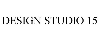 mark for DESIGN STUDIO 15, trademark #85929566