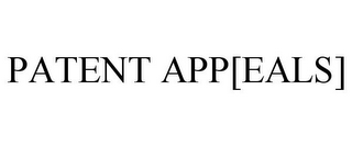 mark for PATENT APP[EALS], trademark #85929871