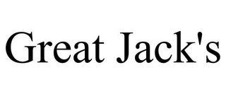 mark for GREAT JACK'S, trademark #85931096