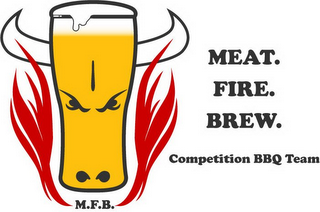 mark for MEAT. FIRE. BREW. COMPETITION BBQ TEAM M.F.B., trademark #85931612