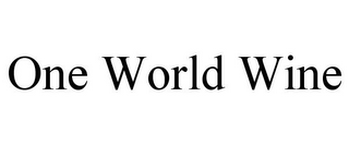 mark for ONE WORLD WINE, trademark #85931682