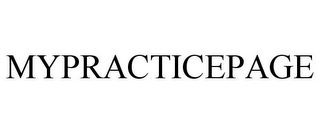 mark for MYPRACTICEPAGE, trademark #85932180