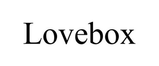 mark for LOVEBOX, trademark #85933175