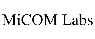 mark for MICOM LABS, trademark #85935752