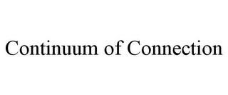 mark for CONTINUUM OF CONNECTION, trademark #85937383
