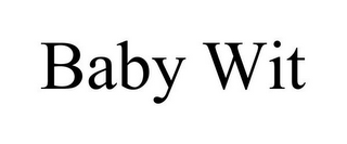 mark for BABY WIT, trademark #85937442