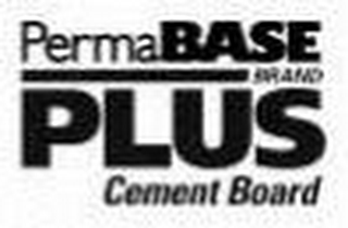 mark for PERMABASE PLUS BRAND CEMENT BOARD, trademark #85940949