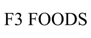 mark for F3 FOODS, trademark #85942275