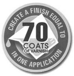 mark for CREATE A FINISH EQUAL TO 70 COATS OF VARNISH IN ONE APPLICATION, trademark #85942519