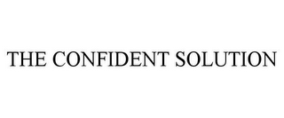 mark for THE CONFIDENT SOLUTION, trademark #85943976