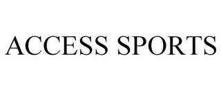 mark for ACCESS SPORTS, trademark #85944696