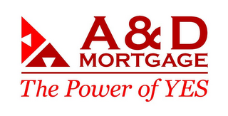 mark for A & D MORTGAGE THE POWER OF YES, trademark #85944737
