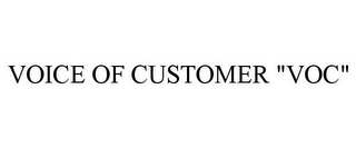 "mark for VOICE OF CUSTOMER ""VOC"", trademark #85944926"