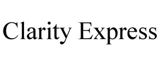mark for CLARITY EXPRESS, trademark #85945554