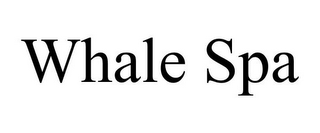 mark for WHALE SPA, trademark #85945743