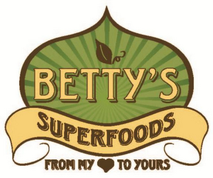 mark for BETTY'S SUPERFOODS FROM MY TO YOURS, trademark #85945846