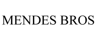 mark for MENDES BROS, trademark #85946786