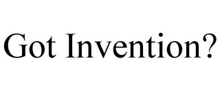 mark for GOT INVENTION?, trademark #85946946