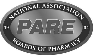 mark for 1904 NATIONAL ASSOCIATION BOARDS OF PHARMACY PARE, trademark #85949243