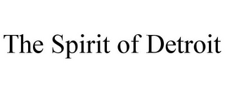 mark for THE SPIRIT OF DETROIT, trademark #85949418