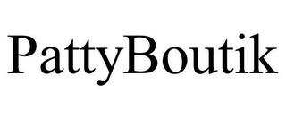 mark for PATTYBOUTIK, trademark #85949649