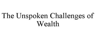 mark for THE UNSPOKEN CHALLENGES OF WEALTH, trademark #85950058