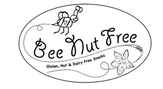 mark for BEE NUT FREE .COM GLUTEN, NUT & DAIRY FREE SNACKS, trademark #85950684