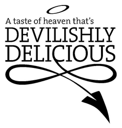mark for A TASTE OF HEAVEN THAT'S DEVILISHLY DELICIOUS, trademark #85951562