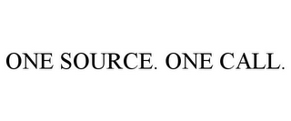 mark for ONE SOURCE. ONE CALL., trademark #85951583