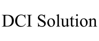 mark for DCI SOLUTION, trademark #85953062