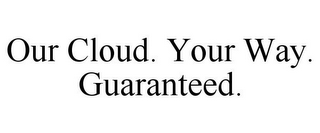 mark for OUR CLOUD. YOUR WAY. GUARANTEED., trademark #85953401