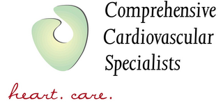 mark for COMPREHENSIVE CARDIOVASCULAR SPECIALISTS HEART. CARE., trademark #85953497