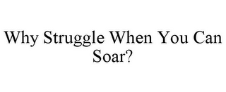 mark for WHY STRUGGLE WHEN YOU CAN SOAR?, trademark #85954458