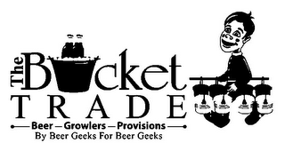 mark for THE BUCKET TRADE BEER GROWLERS PROVISIONS BY BEER GEEKS FOR BEER GEEKS, trademark #85956510