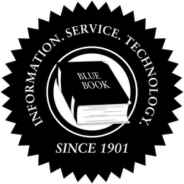 mark for BLUE BOOK INFORMATION. SERVICE. TECHNOLOGY. SINCE 1901, trademark #85957021