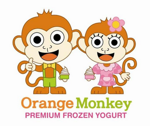 mark for ORANGE MONKEY PREMIUM FROZEN YOGURT, trademark #85957658