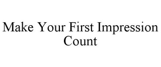 mark for MAKE YOUR FIRST IMPRESSION COUNT, trademark #85957784