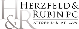 mark for H&R HERZFELD & RUBIN, P.C. ATTORNEYS ATLAW, trademark #85957863