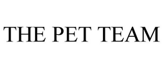 mark for THE PET TEAM, trademark #85958357