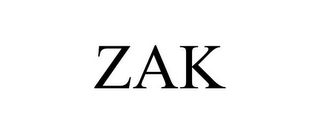 mark for ZAK, trademark #85959881