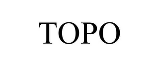 mark for TOPO, trademark #85959911