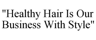 "mark for ""HEALTHY HAIR IS OUR BUSINESS WITH STYLE"", trademark #85960466"
