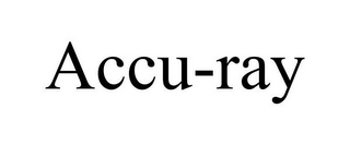 mark for ACCU-RAY, trademark #85960631