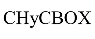 mark for CHYCBOX, trademark #85960719