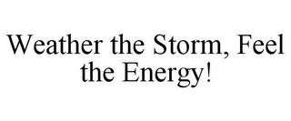 mark for WEATHER THE STORM, FEEL THE ENERGY!, trademark #85961765