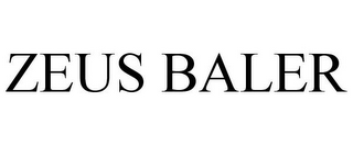 mark for ZEUS BALER, trademark #85962923