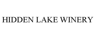 mark for HIDDEN LAKE WINERY, trademark #85963121
