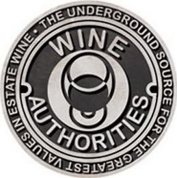 mark for WINE AUTHORITIES THE UNDERGROUND SOURCE FOR THE GREATEST VALUES IN ESTATE WINE, trademark #85964108