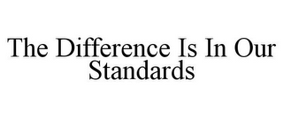mark for THE DIFFERENCE IS IN OUR STANDARDS, trademark #85964448